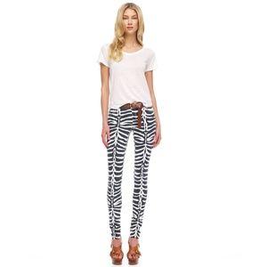 Michael Kors Zebra Striped Jeans Sz 4